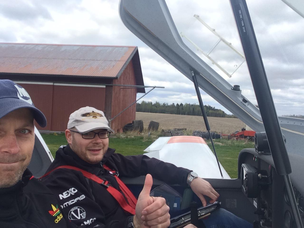 Planerat en flygning till Köping med ett kort stopp på Kjula.